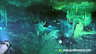 First ever cave diving flash mob