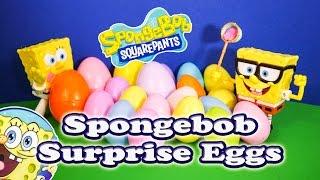 Opening Spongebob Squarepants Surprise Eggs for Toys