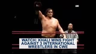 Watch: Khali wins fight against 3 international wrestlers ..