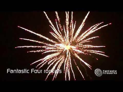 Fantastic Fireworks Fantastic 4 Rockets - Pack of 4