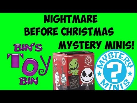 Nightmare Before Christmas Funko Mystery Minis! Blind Box Opening! By Bin's Toy Bin - Smashpipe People