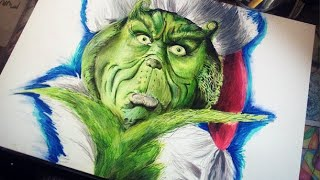 Holiday Speed Drawing; The Grinch