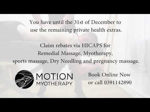Motion Myotherapy Northcote Private Health Funds