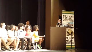 Alumni Speech 2018 || Thurgood Marshall Middle School Graduation