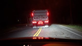 we followed the trucks on clinton road to a stop!