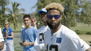 Odell Beckham Jr. Mic'd Up at 2016 Pro Bowl Practice | NFL Fan Pass
