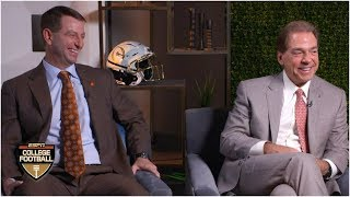 Alabama's Nick Saban, Clemson's Dabo Swinney ready for fourth CFP showdown | College Football Sound