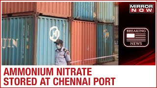 TN leader demands safe disposal of Ammonium Nitrate stored..