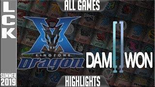 KZ vs DWG Highlights ALL GAMES   LCK Summer 2019 Week 3 Day 3   King-Zone DragonX vs Damwon Gaming