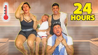 SURVIVING 24 Hours In a HOT STEAM ROOM! **Winner Gets Prize** | The Royalty Family