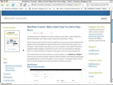 WordPress Tutorial How to Add Flickr Photo Widget to Sidebar