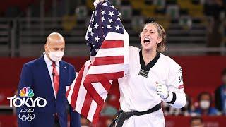 18-year-old becomes America's first women's taekwondo champion  | Tokyo Olympics | NBC Sports