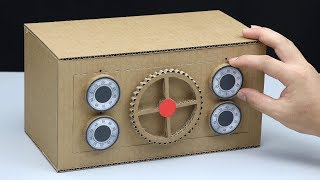How to Make a Safe with Dialing Combination Lock from Cardboard