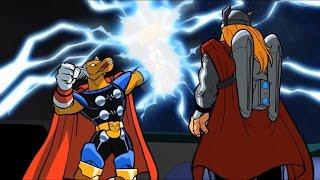 Super Hero Squad Show-Beta Ray Bill gets Stormbreaker