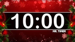 10 Minute Timer with Christmas Music! Countdown Timer for Kids!