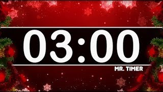 3 Minute Timer with Christmas Music! Countdown Timer for Kids! Festive Holiday Instrumental!