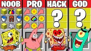Minecraft Battle: SPONGEBOB EXE CRAFTING CHALLENGE ~ NOOB vs PRO vs HACKER vs GOD - Animation