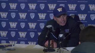 UW vs WSU - Coach Chris Petersen Postgame Press Conference