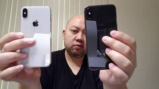 Apple iPhone X Review & Comparison (Silver Vs Space Grey) Video By @Jspekz