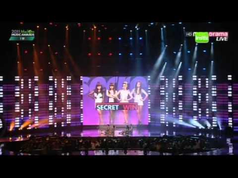 dance battle :sistar vs secret (melon music awards 2011)