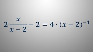 Racionalna enačba 3