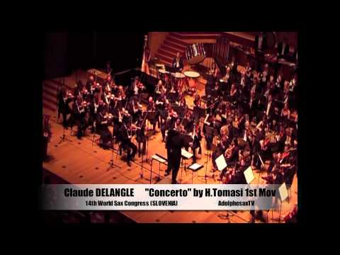 Claude DELANGLE. Henri TOMASI saxophone concerto 1st mouvement