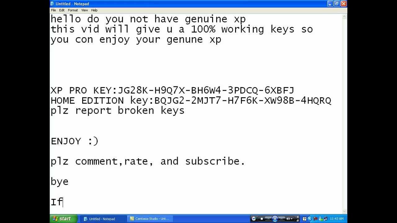winxp key