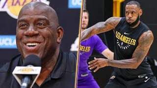 Magic Says Lakers Are STACKED And Don't Get Him Started On LeBron.. LA Presser Highlights