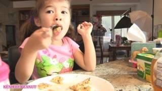 Bé Peanut Thức Dậy Muộn  Xém Trể Học / Chị Bí Đỏ Làm Đồ Ăn Sáng Và Lunch Box Cho Peanut Đi Học
