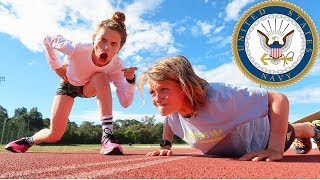 KIDS TAKE THE US NAVY FITNESS TEST w/ The Norris Nuts