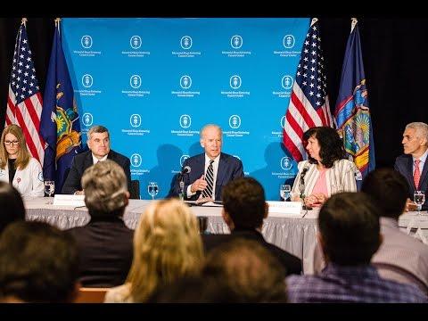 Vice President Joe Biden Visits MSK for Cancer Moonshot Roundtable Discussion