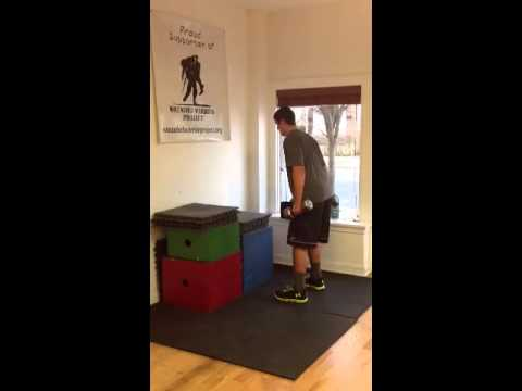Jeff dumbbell box jump