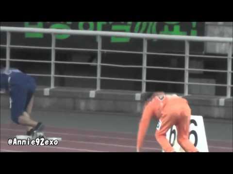 130903 91 〇 EXO 엑소 Suho Kris Xiumin Luhan Relay 릴레이 リレー @ Idol Star Championship 아육대 運動会