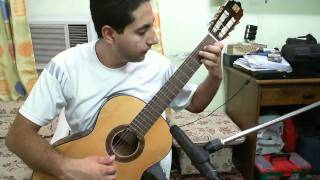 Happy Birthday Played on Classical guitar, Slow version.