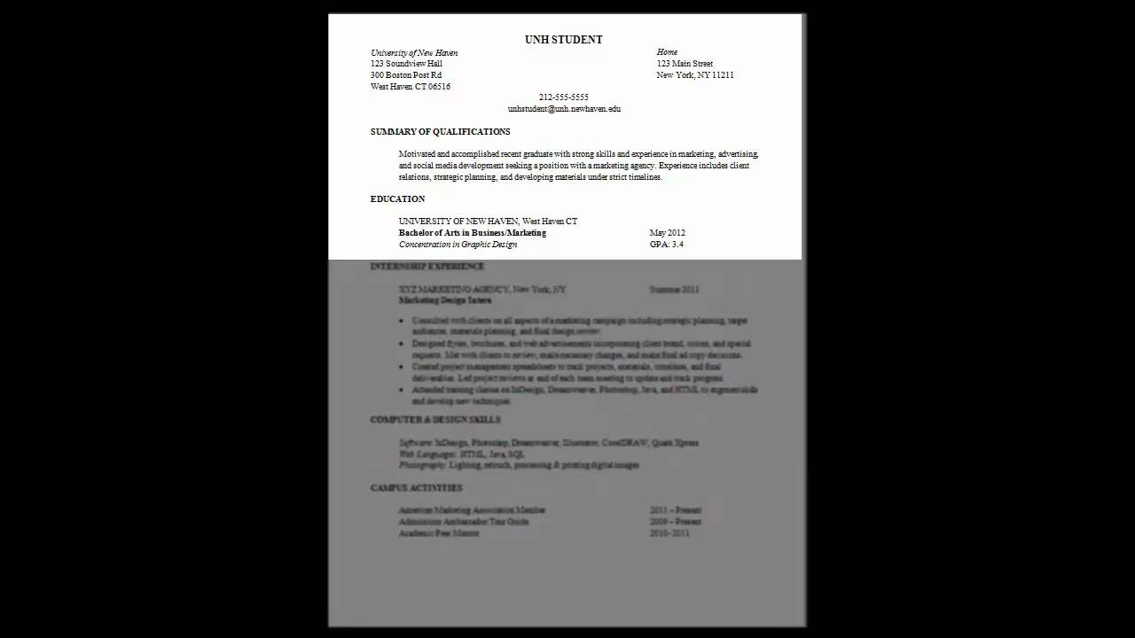 Custom resume writing youtube