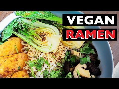 VEGAN RAMEN RECIPE | HOW TO MAKE MISO BROTH NOODLE SOUP ビーガンラーメン