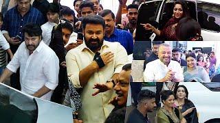 Celebrities With their Car Mass Entry At Maniyanpilla Raju Son Wedding | Mammootty | Mohanlal