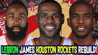 LEBRON JAMES HOUSTON ROCKETS REBUILD! NBA 2K18 MY LEAGUE