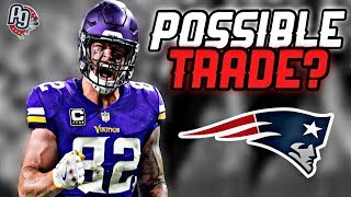 Patriots interested in TRADING for Vikings TE Kyle Rudolph