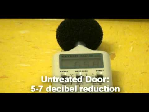 Acoustic Door Seals: Before and After Demonstration