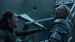 Arya Stark vs Brienne de Tarth DUBLADO FULL HD