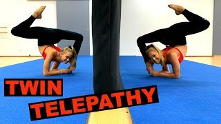 TWIN telepathy CONTORTION Challenge