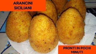 Arancini Siciliani Ricetta Facilissima pronti in pochi minuti
