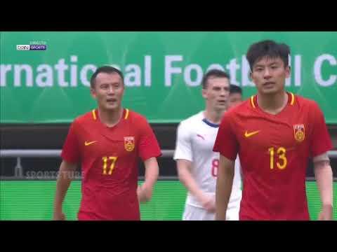 선제골까지 넣었지만 참패, 중국 vs 체코 1-4 친선경기 하이라이트