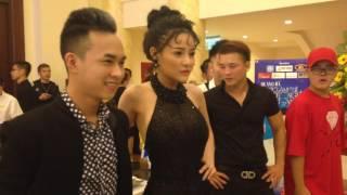 Ngân 98 khoe thân hình thẩm mỹ xương xẩu dự ra mắt MV mới của Quang Hà