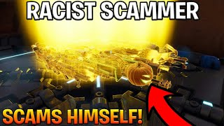 Racist Raging Scammer Scams Himself! (Scammer Gets Scammed) Fortnite Save The World