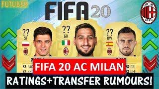 FIFA 20 | AC MILAN PLAYER RATINGS!! FT. DONNARUMMA, SUSO, PIATEK ETC... (TRANSFER RUMOURS INCLUDED)