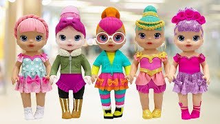 Play Doh Outfits L.O.L Surprise Doll Genie Cozy Babe Neon Q.T  Sugar Queen Ice Sk8ter