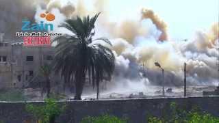 صور حصرية لقيام الجنود المصريين بتفجير المنازل المتاخمة للحدود مع قطاع غزة 02-11-2014