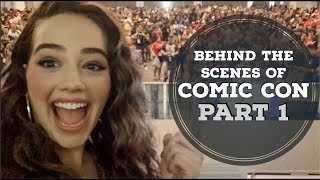 Behind the Scenes of Comic Con with My Cobra Kai Family! || PART 1 || MY FIRST SDCC EXPERIENCE!